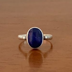 Vintage Sterling Silver Blue Lapis Ring